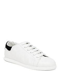 Alexander McQueen - Leather Single-Sole Sneakers $460