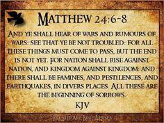 Matthew 24:6-8