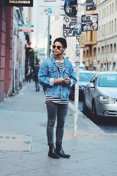 Get this look: http://lb.nu/look/7598238  More looks by Kevin Elezaj: http://lb.nu/kevinelezaj  Items in this look:  Asos Chelsea's, Asos Jeans, H&M T Shirt, Levi's® Jacket, Ray Ban Glasses, Topman Beanie