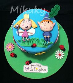 Ben and holly Ben And Holly Cake, Ben E Holly, 5th Birthday Cake, Birthday Ideas, Novelty Cakes, Fondant Cakes, Themed Cakes, Cake Art, Party Cakes