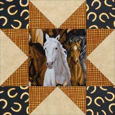 Horse Dreams Wild Horses Quilt Kit 12 PRE-CUT Blocks – Quilt Kit Shop