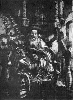Hyman Bloom - Rabbi with Torah