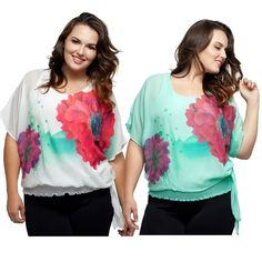 "Plus Size Floral Batwing Blouse with Built In Cami NWT. White or Green. A classic, fun, and functional blouse in a fun watercolor floral print.. The batwing sleeves are perfect for concealing problem areas, while the waist ruched detail accentuate a curvy girl's natural shape. Also features a built-in cami.   SIZE GUIDE:  1X: 14-16W, 34-37"" waist, 43-47"" hip, 41-44"" Bust.  2X: 18-20W, 38-41"" waist, 47-50"" hip, 45-48"" Bust.  3X: 22-24W, 42-45"" waist, 50-54"" hip, 49-52"" Bust.   100% Polyester…"
