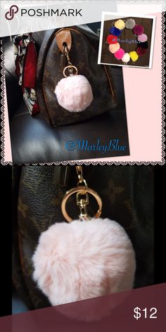 Genuine Rex Rabbit Fur Pompom Keychain PEACHY PINK This listing is PEACH Rex rabbit fur pom pom on chain...perfect for keychain or very trendy to hang on purse. 12 colors available! Red, Wine, Blue, Bright Pink, Peachy Pink, Magenta, Grey, Yellow, Black, White, Cream, and Lavender. Gold hardware. Rex rabbit is a very soft, short cropped fur. The pompoms vary slightly in size due to nature of working with natural fur... The average size measured across is 2.5 - 3 inches. Perfect gift for…
