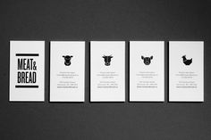 Meat & Bread stationery — Glasfurd and Walker