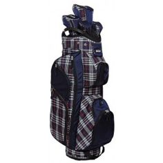 Fashion Plaid Women's Golf Bag with 5 matching club covers