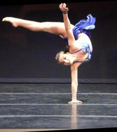 """Strength and beauty in one shot, Jacqui in her custom contemporary """"gLAM"""" costume."""