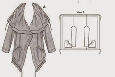 yo elijo coser: Hacer un abrigo con un rectángulo de tela