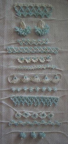 anatolian beaded oya | Flickr - Photo Sharing! bead embellishments on fabric, textured, lovely, shiny. uplifting detail. might like to make myself.