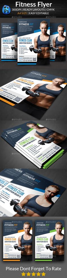 Fitness Flyer Pinterest Flyer template, Template and Brochures - Fitness Brochure Template