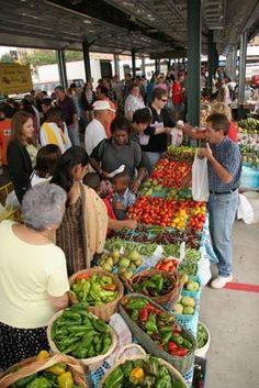 City Market Kansas City, Missouri this is only one of the stalls (aisles) every Saturday