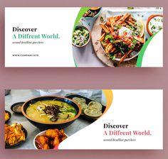 Creative Facebook Cover, Facebook Cover Design, Facebook Cover Images, Facebook Cover Template, Facebook Timeline Covers, Email Template Design, Food Menu Template, Wedding Banner Design, Banner Design Inspiration