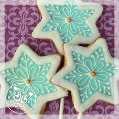 Snowflake Cookies, Cut Out Cookies, Birthday Cookies, Cake Cookies, Christmas Cookies, Christmas Baking Gifts, Cartoon Cookie, Cookie Bakery, Iced Sugar Cookies