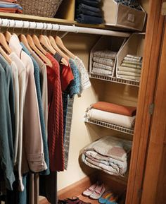 For closets that have akward corners that can't fit clothing hangers!