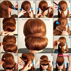 Low hair wrapped across chingnon. Possible graduation styles. This would be nice with a little hair gem to add to the back :)