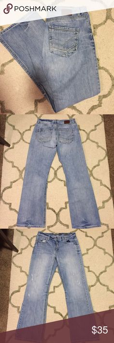 BKE men's Tyler jeans BKE Denim by Buckle, Tyler style, size 33L. In great condition with the exception of the very light stain on the left leg, picture above and hardly noticeable! Retails for $75. I offer discounts on bundles! Jeans Bootcut