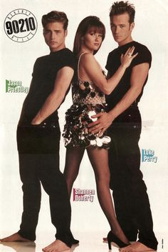 Luke Perry, Shannen Doherty and Jason Priestley . Beverly Hills 90210, Brandon Walsh, Mejores Series Tv, Jason Priestley, Clueless Outfits, Jennie Garth, Tv Icon, The Originals Tv, 1990s