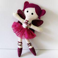 Sugar Fada boneca de pano bailarina