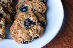 Oatmeal Cinnamon Blueberry Cookies?!!? Three of my favorites in one cookie!