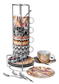 Missoni for Target premieres September 13, 2011. I am getting this five-piece stacking espresso set, $39.99!!!