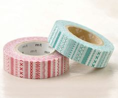 Washi Masking Tapes - Red and Teal Stitches - Masking Tape, Washi Tape, Red And Teal, Decorative Tape, Baby Shower, Shower Party, Smash Book, Party Favors, Card Making