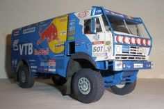 2009`s Rally Truck Kamaz Dakar Paper Model - by Spida Models  --  spidatruckbluewhitepapermau001_zps306321dc.jpg  This detailed paper version of the 2009`s Rally Truck Kamaz Dakar in 1/53 scale came from Spida Models, a Czech website. You will find many more models there.