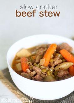 Slow Cooker Beef Stew Recipe   Six Sisters' Stuff