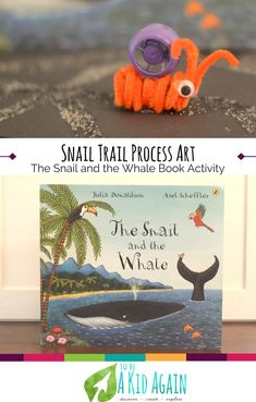 Hands-on fun to go along with The Snail and the Whale by Julia Donaldson. This sensory and process art experience making snail trails like the snail in the book. Shows how to make snail finger puppets.