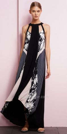 Abstract Print Maxi Dress by EDM Private Collection #edressme