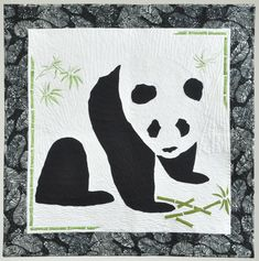 Panda quilt:  Endangered by Nancy Linz.  Milwaukee Art Quilters