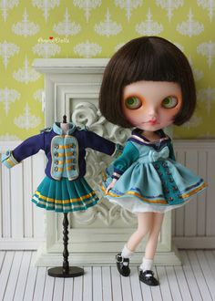PO  Anniedollz Blythe Sailor Dress Middy Collar  by anniedollz