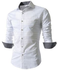 White Men's Shirt with Long Sleeves