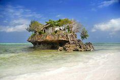 Insel vor dem Strand von Sansibar