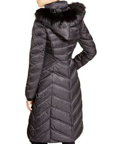 Laundry by Shelli Segal Long Maxi Puffer Coat