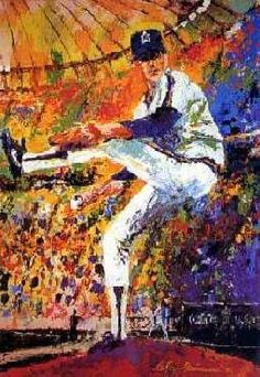 """Gaylord Perry"" by LeRoy Neiman"