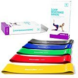 Resistance Bands - Best Exercise Loop Band Set of 5 - FREE EBOOK - Workout Equipment for Yoga Crossfit Fitness Pilates Strength Physical Therapy Mobility Recovery - Training Body Legs Glutes Butt - https://www.trolleytrends.com/?p=538712