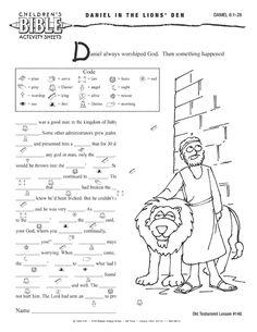 bible worksheets | Children's Bible Activities Online - Older Age Group Activity Sheets