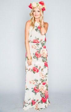 Heather Halter Dress ~ Lady Rose