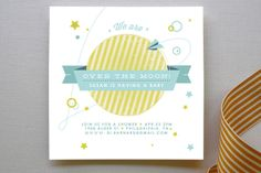 Over the Moon Baby Shower Invitations by Very Special Devices at minted.com