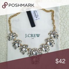 Jeweled j. Crew necklace Great statement piece! Brand new! Dust bag not included J. Crew Jewelry Necklaces