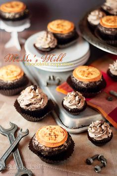 Chocolate tres leches cupcake