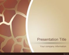 Animal Skin PowerPoint Template is a free animal PowerPoint template with a skin theme design and sepia color