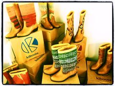 Kiboots, I love these boots! Every pair is handmade and unique!