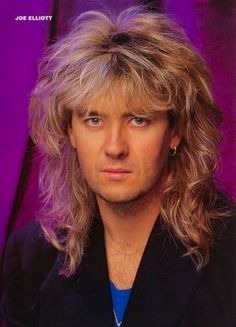 joe elliott I loved his hair, strived to achieve hair similar to his, back in the day of course :)