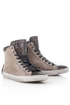 Crime CR2569 Taupe-Sneaker combi bij diCapolavori/Bitter