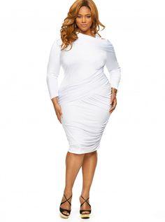 Plus Size Chiffon Pleat Bottom Dress | Plus Size Party Dresses ...