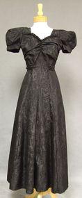 Unique MUSICAL Moire Taffeta 1940's Evening Gown