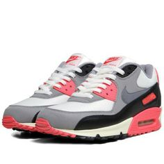 check out 5b1f0 8a82f Nike Air Max 90 OG (Sail, Cool Grey   Infrared)