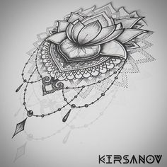 Resultado de imagen de lace lotus tattoo black and white