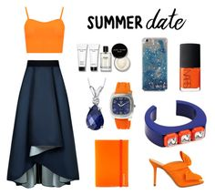 """""""Summer Date"""" by mayday004 ❤ liked on Polyvore featuring WearAll, Sachin + Babi, Charlotte Olympia, NARS Cosmetics, Under Cover, Bobbi Brown Cosmetics, Oravo, Trax, Sonia by Sonia Rykiel and summerdate"""